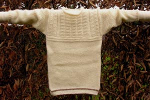 childs cream gansey mohair